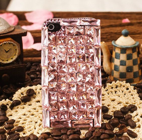 Handmade Bling Bling Luxury Crystal Rhinestone Diamond case cover for iphone5 iphone4 and 4S