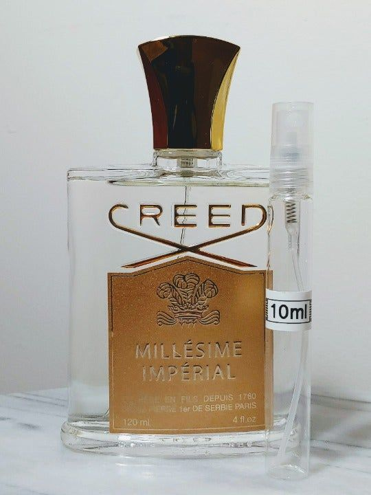 10ml Sample From Authentic Bottle Of Creed Millesime Imperial Edp In Clear Glass Atomizer Bottle Large Box And Bottle O Perfume Bottles Bottle Things To Sell