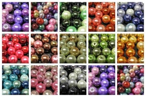 8mm Glass Pearl Bead Mixes ....