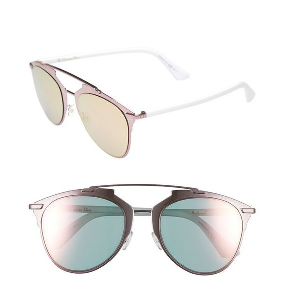 Women's Dior 'Reflected' 52Mm Sunglasses (1.465 BRL) ❤ liked on Polyvore featuring accessories, eyewear, sunglasses, geometric sunglasses, geometric glasses, christian dior eyewear, christian dior and christian dior sunglasses