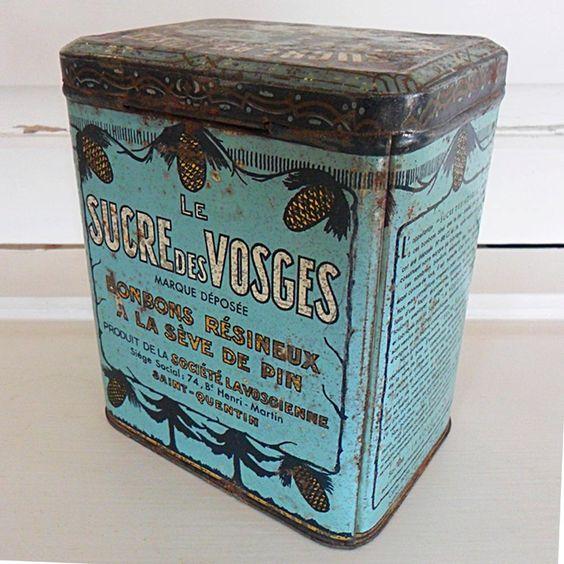 Vintage French Decorative Chicory Tin. via Etsy.