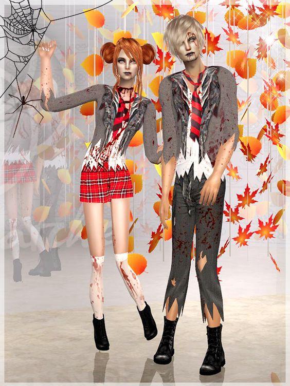 Zombie school kids!