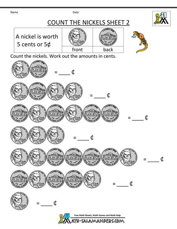 free math money worksheets count the nickels 1000 1294 help pinterest math money. Black Bedroom Furniture Sets. Home Design Ideas