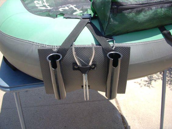 Rod holders pontoons and fishing rod holders on pinterest for Fishing rod holders for pontoon boats