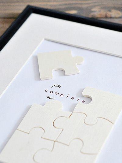 Tutoriel DIY: Fabriquer un puzzle pour la Saint-Valentin via DaWanda.com: