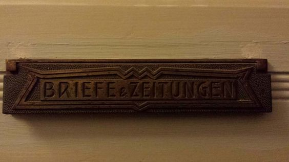 The letterbox (mailslot) to our Berlin apartment.