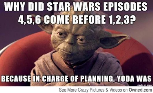 It Took Me Sooooo Long To Figure This Out Then I Was All Like Am I This Stupid Then I Questioned My En Star Wars Memes Star Wars Quiz Star Wars Episodes