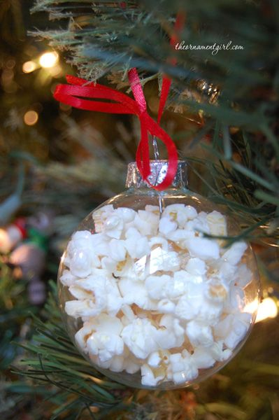 How to make glass popcorn ball ornaments | DIY  These are too freaking cute!!