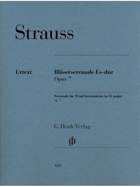 Strauss R Blaserserenade Es Majeur Op 7 Partijen 27 30 Houtblazers Klassiek 12 Blazers Henle Hn1261 Bladmuziek Altviool Klarinet