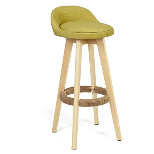 Barstools High Chair Bar Chair Barstools Footrest Stool With Backrest Swivel Linen Cover Seat Dining Chairs For Kitchen Pub Cafe Barstoo In 2019 Bar Stool Chairs Home Bar Furniture Wood Bar Stools