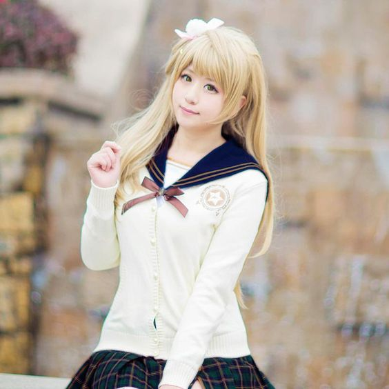 Love Live! School Idol Project Costume Unwakened Characters Cosplay Sweater Blouse & Skirt For Summer
