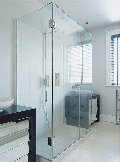 Three Sided Glass Shower Enclosure Bathroom Inspiration Pinterest Shower Enclosure