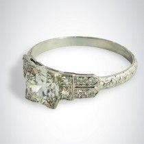 1.17 Carat Art Deco Vintage Diamond Ring