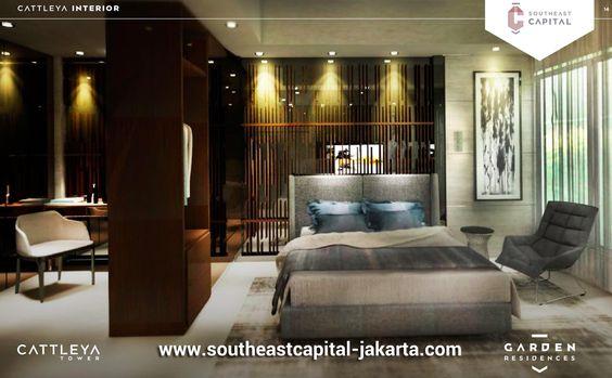 Master Bedroom Interior Design Apartment Loft Unit Southeast Capital Jakarta