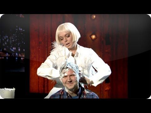 """This is kind of weird..... it reminds me of """"Sprockets"""" from SNL!!  -Let Us Play With Your Look: Lindsay Lohan (Late Night with Jimmy Fallon)"""