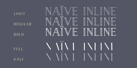 Naive Inline - Webfont & Desktop font « MyFonts $20