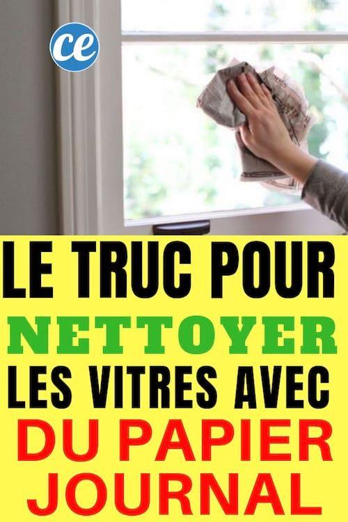 Nettoyer Vitres Et Carreaux Avec Du Papier Journal Pour Un