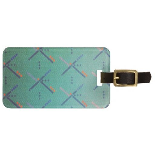PDX Airport Carpet Luggage Tag pdxcarpet Portland