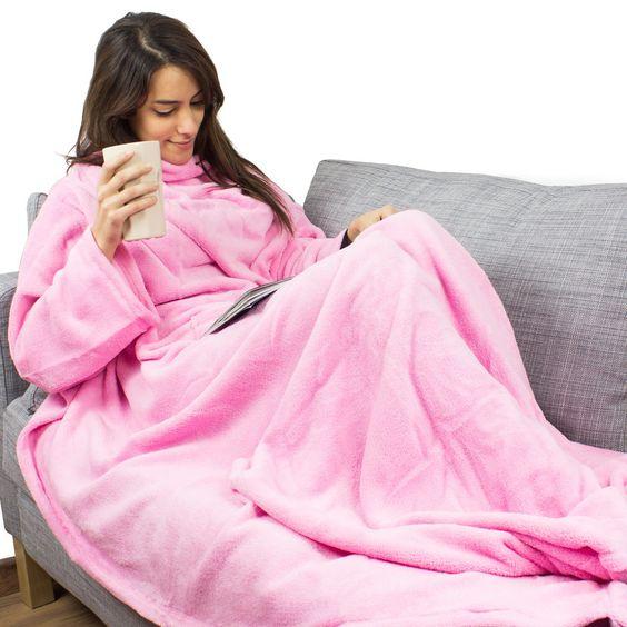 Hugz de luxe - Die Decke mit Ärmeln - Geschenke von Geschenkidee