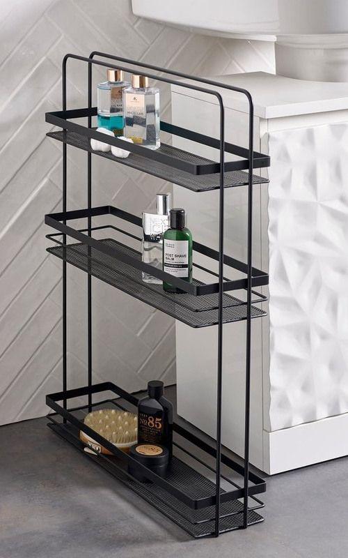 Next Slimline Storage Unit Black In 2020 Bathroom Storage