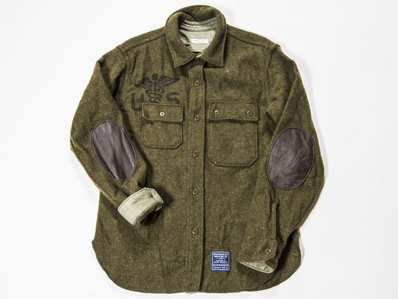 Engineered Garments x Faribault Woolen Mill Co.- Medic Green CPO Jacket