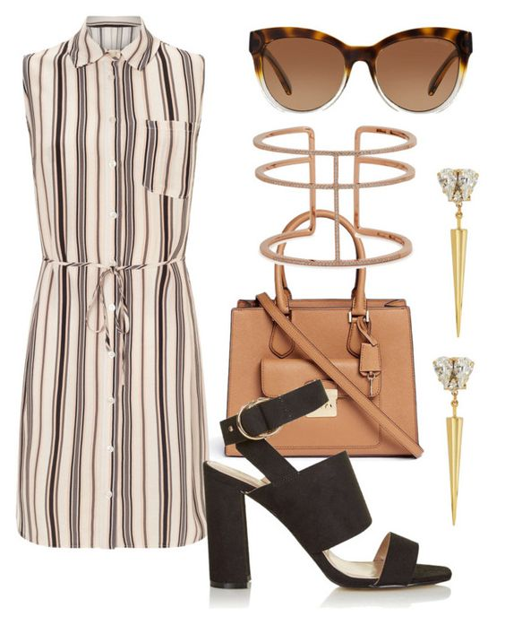 """""""its a shirt,its a dress.its a shirtdress."""" by amra02 ❤ liked on Polyvore featuring Michael Kors, Anton Heunis, Miss Selfridge, APM Monaco and Topshop"""