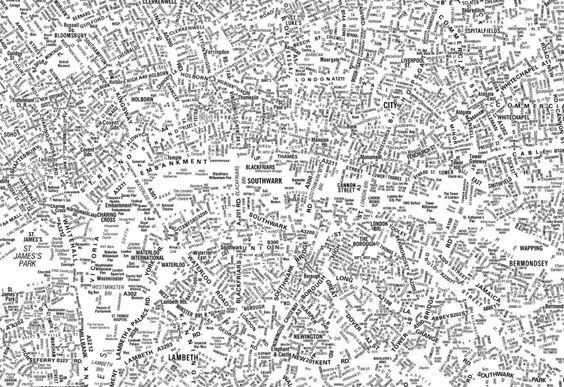 london's kerning – typographic map