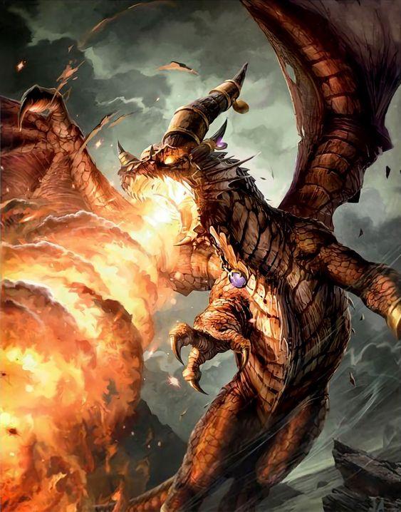 炎を吐くファイアドラゴンの壁紙