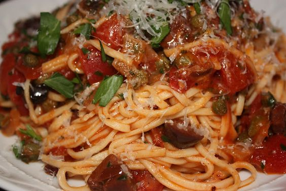 mail puttanesca and more pasta puttanesca foodies pasta roasted ...