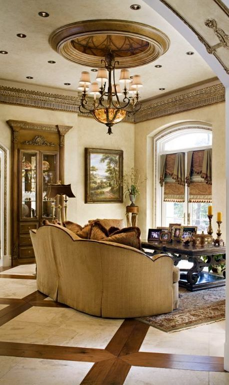 Tuscan Living Rooms Ceiling Medallions And Living Rooms On Pinterest