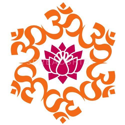 Om Lotus Meditation Yoga Aum Buddhism Sticker Spreadshirt Om Lotus Buddhism Silhouette Images