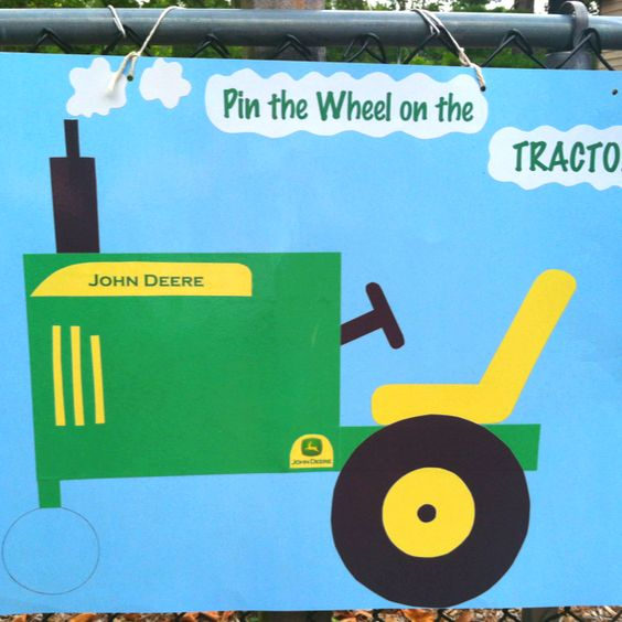 Pin The Wheel On The Tractor Game