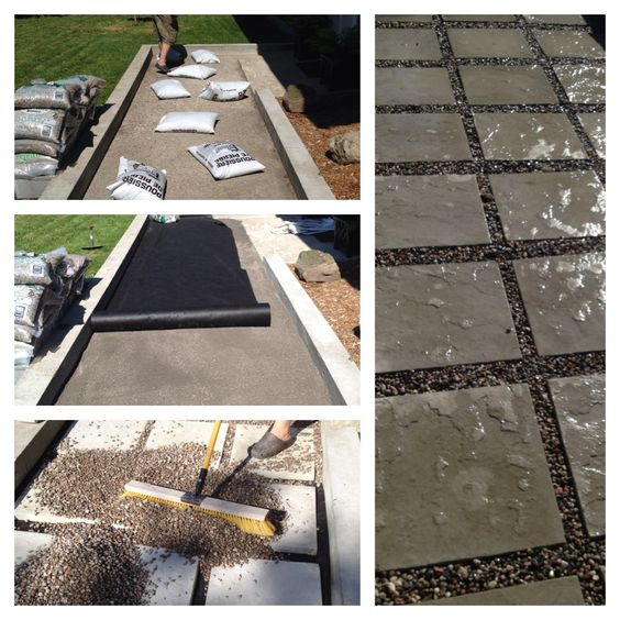 River rock landscaping flagstone pavers and rock landscaping on pinterest - River stone walkway ideas seven diy projects ...