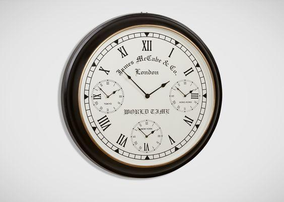World Timer Wall Clock - Ethan Allen