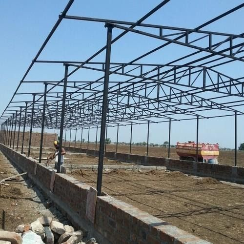 Steel Poultry Farm Shed Rs 432000 Set Kissan Trading China Prefab Design Construction Low Cost Steel Structure Poult In 2020 Farm Shed Shed Construction Poultry Farm