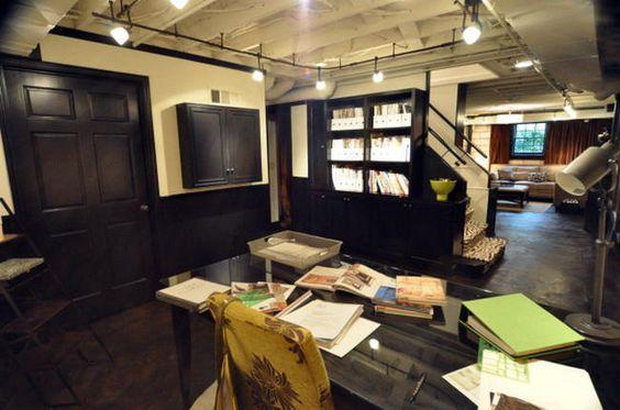 unfinished basement lighting ideas basement pinterest. Black Bedroom Furniture Sets. Home Design Ideas