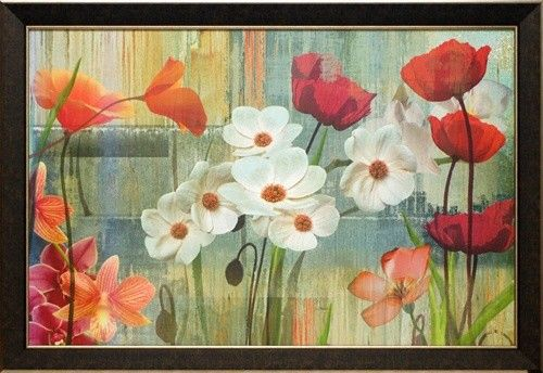 'Field of Flowers' by Maria Donovan Framed Painting Print