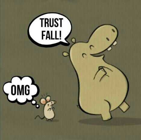 Its just a trust fall but it makes everything diverent