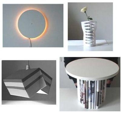 Ideas que se reciclan, soluciones decorativas.
