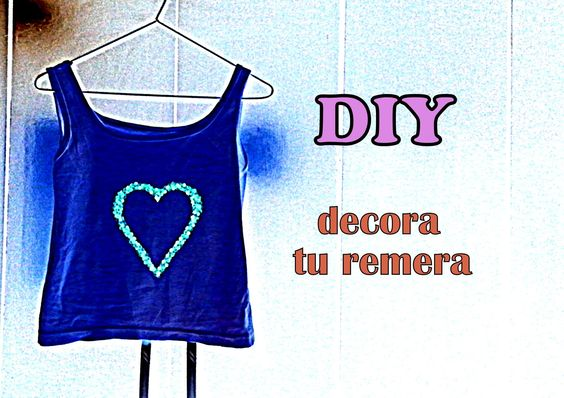 DIY decora tu remera (facil y rapido)
