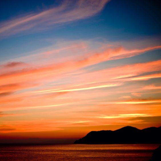 Italian sunsets , Cinque Terra