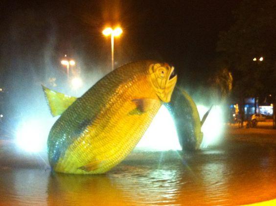 Praça da Liberdade em Bonito, MS