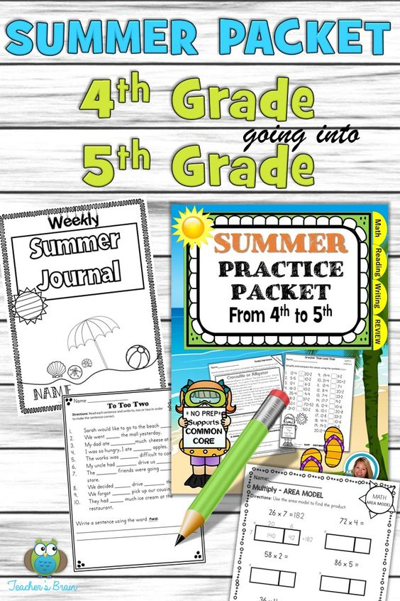 Over 90 printables to review what students should already know from 4th Grade to practice on before they enter 5th Grade.  It has math, literacy, and writing activities.  There is a summer weekly journal for kids to write daily about their summer events.  Parents have suggestions and directions they can do to keep their kids prepared for the next level!