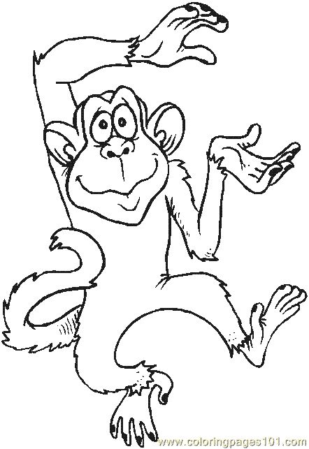 carnival monkey coloring pages - photo#36