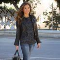 Sweatshirt  Sequin  , Pull   & Bear em Suéter, Zara em Jeans, Mango em Saltos/Plataformas, Zara em Jaquetas
