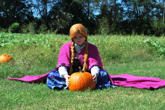 The Snow Princess visits a pumpkin patch! www.PrincessProductionsGA.com