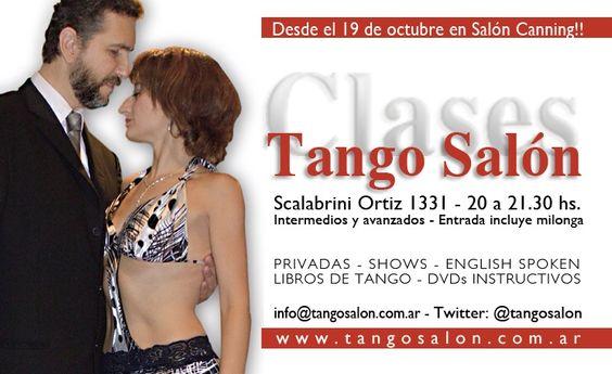 A partir del 19/10 vuelven las CLASES de TANGO SALÓN en A puro Tango (Scalabrini Ortíz 1331 - Salón Canning). Te esperamos a las 20:00 hs. La clase incluye acceso a la milonga.