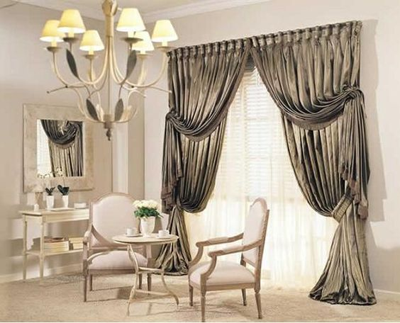 Unique Living Room With Luxury Curtains Decorating 585 473 Pixels Houses And Styles