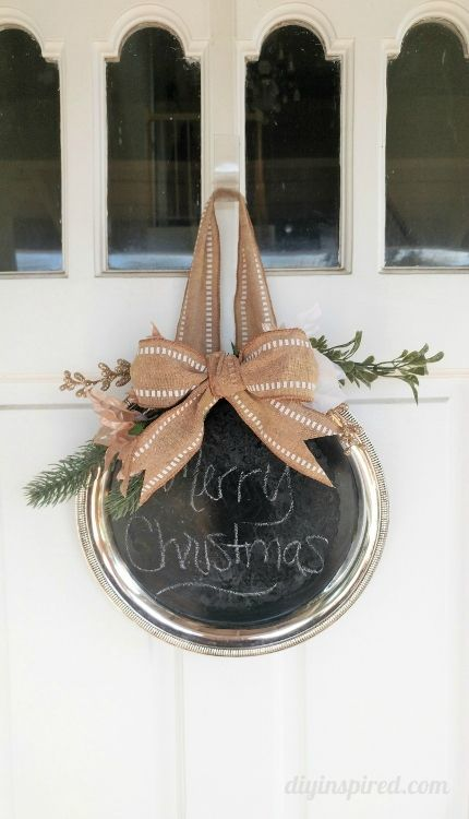 Repurposed Chalkboard Silver Platter