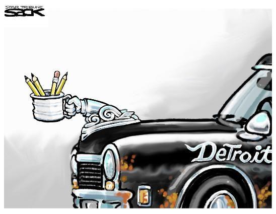 Steve Sack cartoon: Detroit   Star Tribune